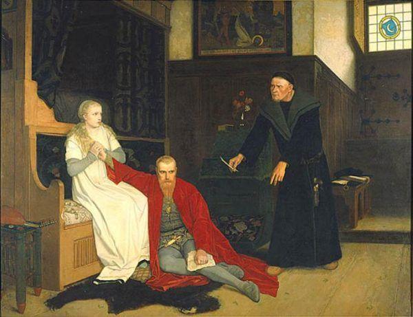 Dosieczka skutecznie wzmacniała wizerunek szalonego króla Eryka XIV. Obraz Georga von Rosena z 1871 roku.