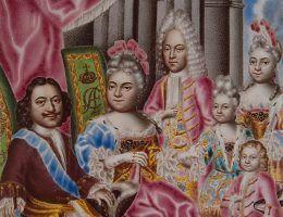 Rodzina Romanowów podczas panowania Piotra Wielkiego.