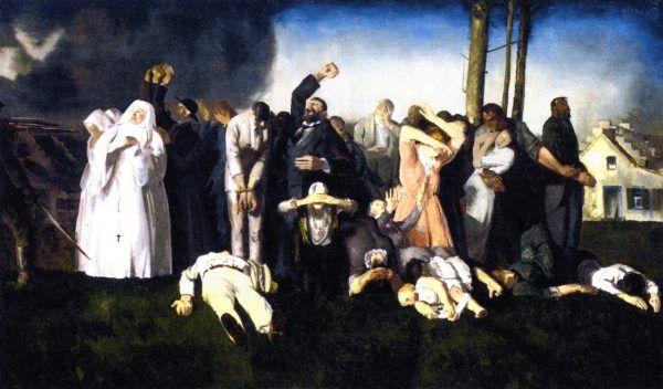 """Masakra w Dinant"" obraz George'a W. Bellowsa."