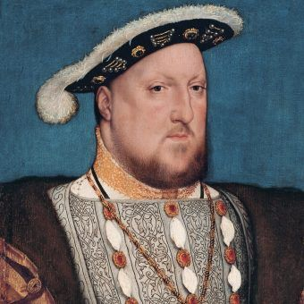 Henryk VIII na portrecie pędzla Hansa Holbeina.