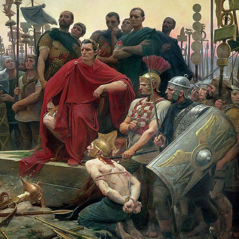 Juliusz Cezar na obrazie Lionela Royera.