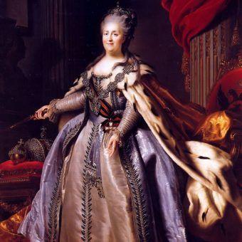 Katarzyna II, portret Fiodora Rokotowa.