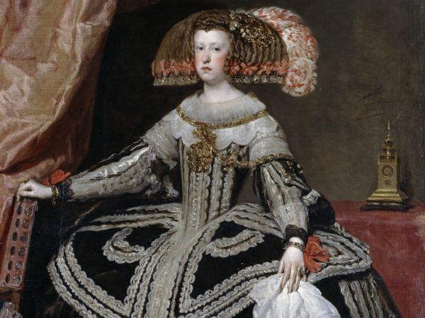 Marianna to typowa Habsburżanka. Jej rodzice to kuzyni, poślubiła własnego wujka, a córkę oddała za żonę bratu... Fragment obrazu Diego Velázqueza z 1652 roku.