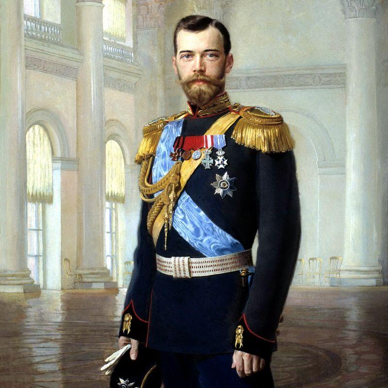 Mikołaj II Romanow na portrecie pędzla Earnesta Lipgarta.