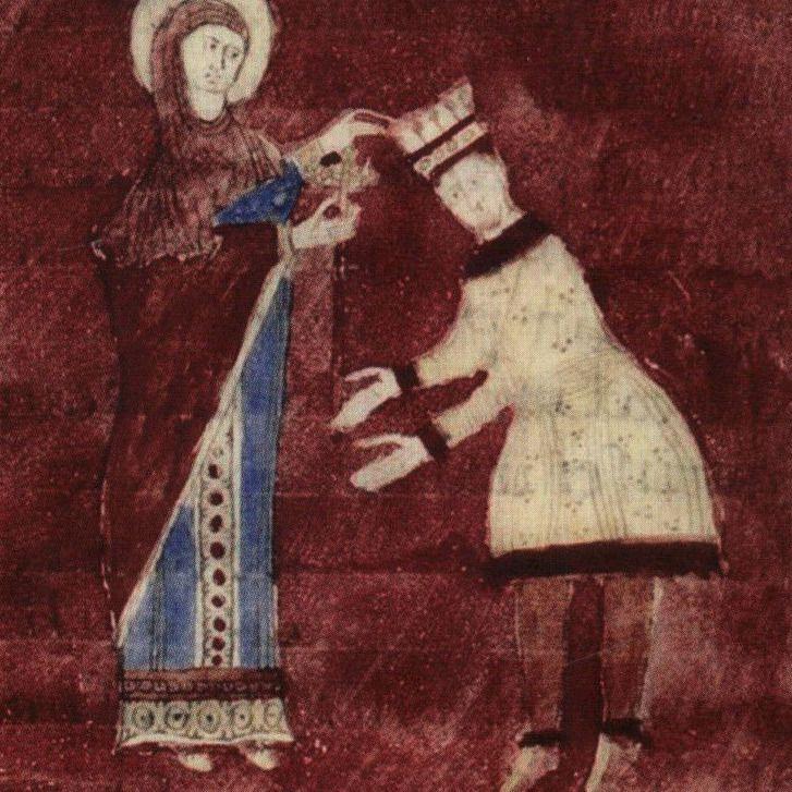 Otton III na średniowiecznej miniaturze.