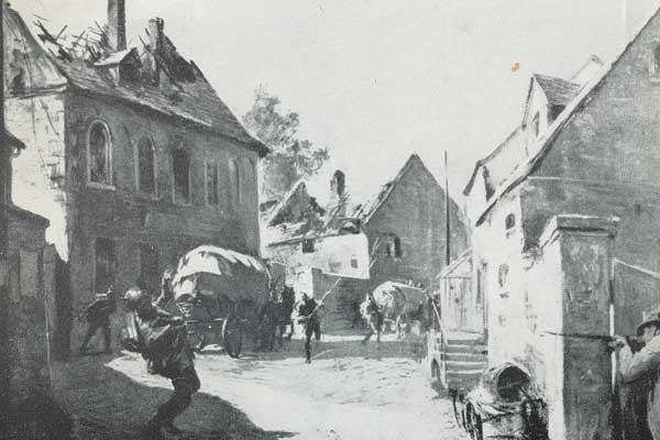 Niemieccy żołnierze wszędzie dostrzegali partyzantów.