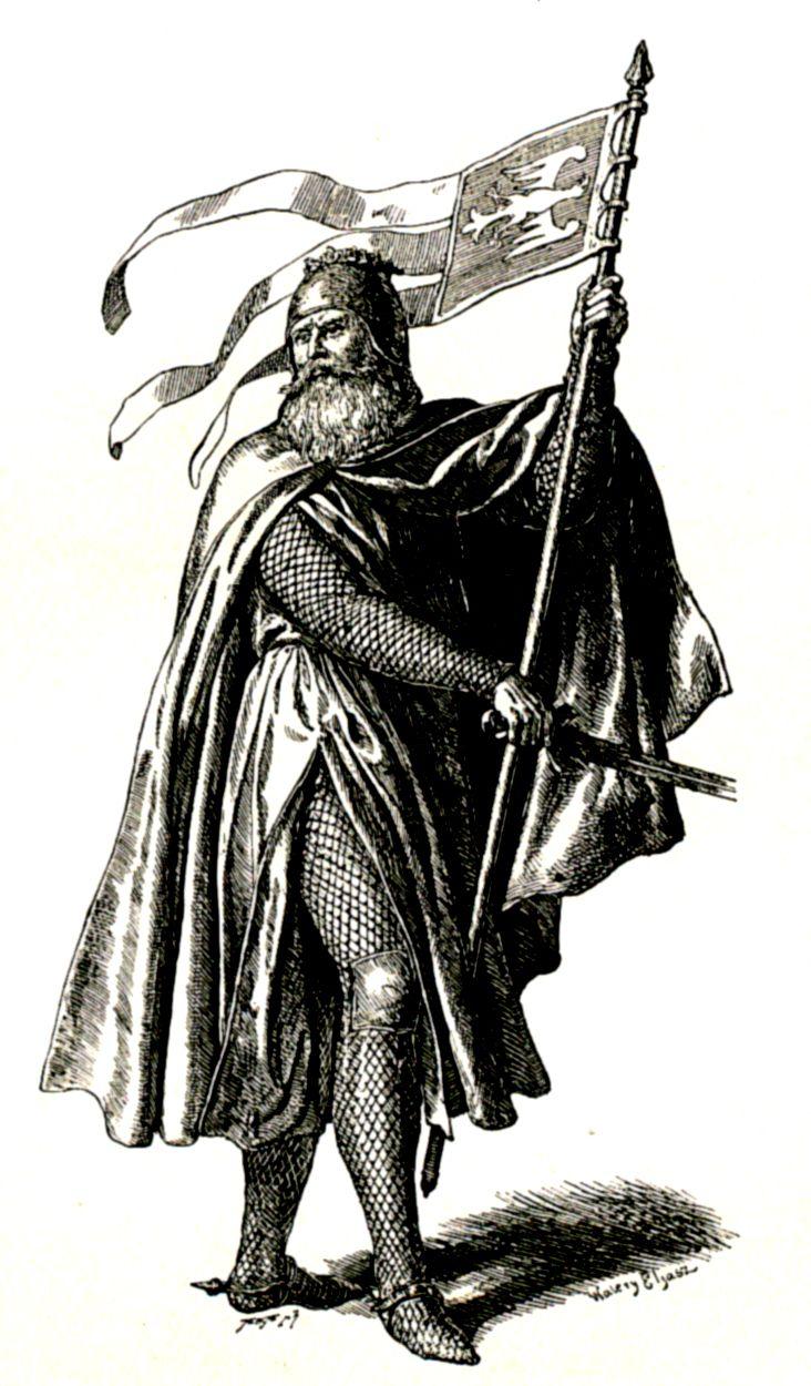 Jeszcze w czasach wypraw wojennych Bolesława Krzywoustego branie niewolników było codziennością. Na tym rysunku z 1893 roku widzimy, jak tego władcę wyobrażał sobie Walery Eljasz-Radzikowski.