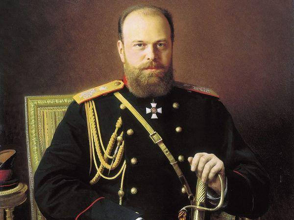 """Car Rosji Aleksander III. Choć prywatnie był kuzynem księcia Bułgarii, Aleksandra Battenberga, nie wahał się nasłać na niego """"zielone ludziki""""."""