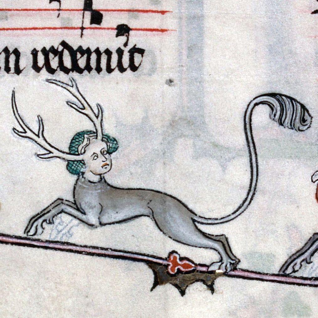 Bycie rogaczem w średniowieczu mogło nieść ze sobą różne znaczenia. Brewiarz Renauda de Bar, Francja, ok. 1302-1303 r.
