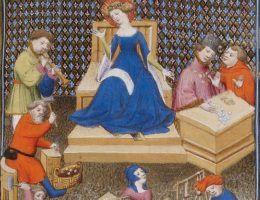 """Zarabianie na życie w średniowieczu to ciężki kawałek chleba. Ilustracja do """"De Claris mulieribus"""" Giovanniego Boccaccia, 1403 r."""