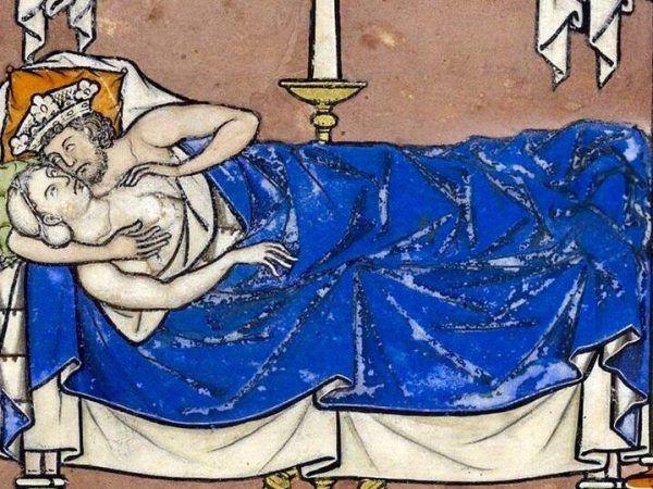 Takie rzeczy tylko po ślubie. I to nie od razu! Ilustracja z XIII-wiecznej Biblii Maciejowskiego.