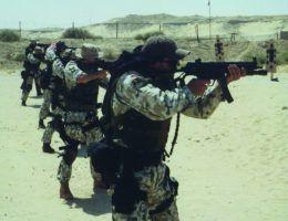 Naval podczas szkolenia ze strzelania.
