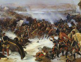 Bitwa pod Narwą na obrazie Aleksandra von Kotzebue.