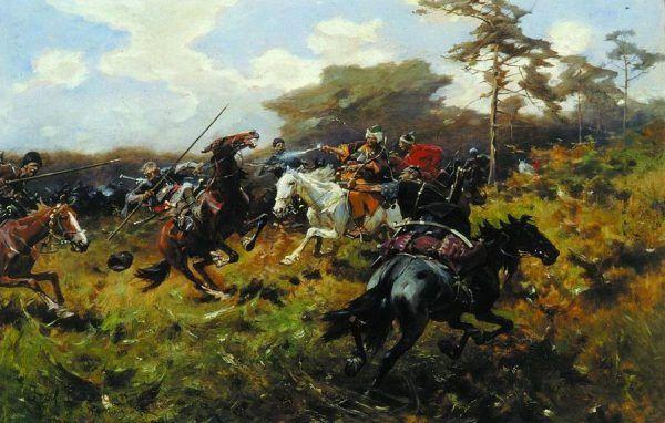 Bitwa pod Humennem na obrazie Józefa Brandta
