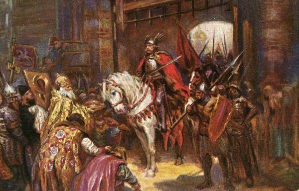 Bolesław Chrobry wjeżdża triumfalnie do Kijowa. Obraz Konstantego Górskiego.