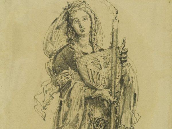 Bolesław Chrobry jako syn czeskiej księżniczki Dobrawy uważał, że ma wystarczające prawa do praskiego tronu. Rysunek Jana Matejki z 1886 roku.