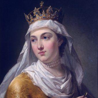 Jadwiga zapewne niewiele pamiętała ze swojego pierwszej nocy poślubnej. Na ilustracji portret władczyni pędzla Marcello Bacciarelliego.
