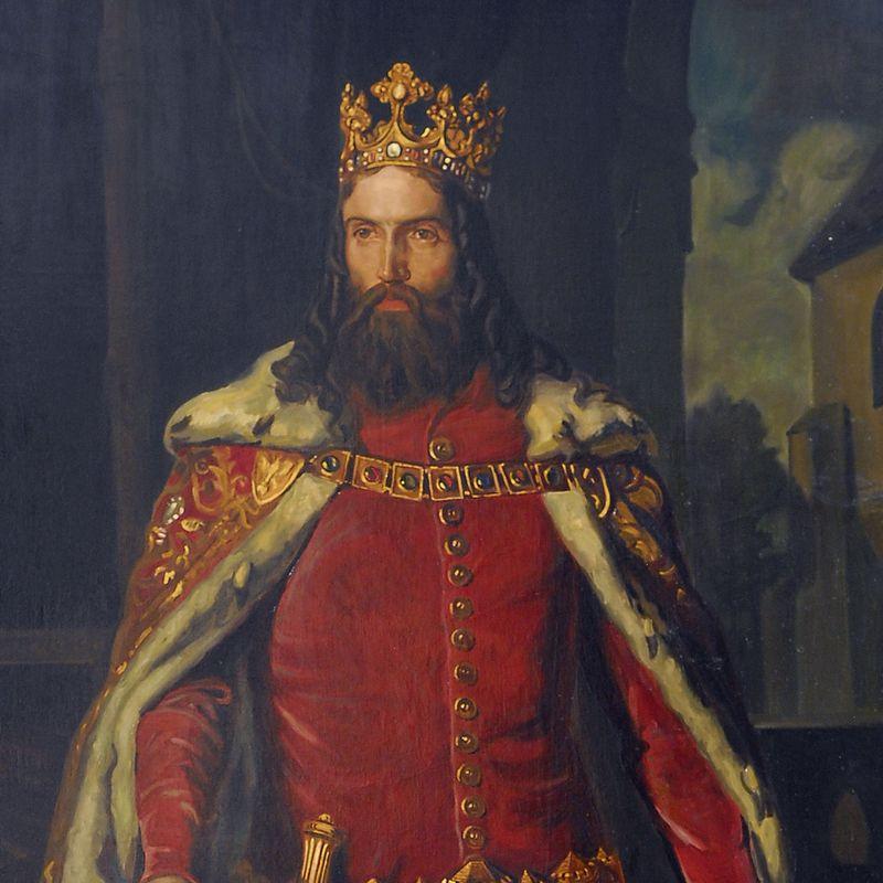 MP 3761; Löffler, Leopold (1827 1898) (malarz); Portret Kazimierza Wielkiego; 1864; olej; płótno; 251 x 157