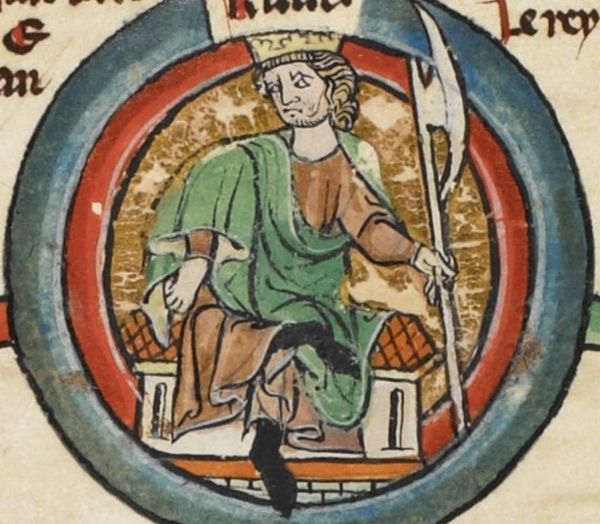 Według byłego brytyjskiego ministra spraw zagranicznych Knut zabrał na podbój Anglii polskich wojów. Na ilustracji XIV wieczna podobizna władcy Dani, Norwegii i Anglii.