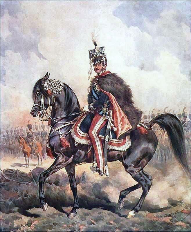Sygnał do ataku miał dać polski książę Józef Poniatowski (na obrazie Juliusza Kossaka).