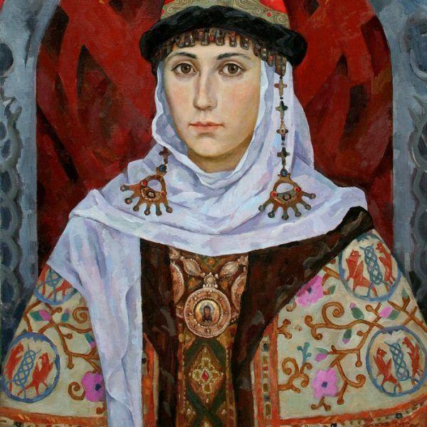 """Portret Marii Dobroniegi autorstwa Michaiła Dwugłazowa. To właśnie ona była jedną z dwóch """"kobiet"""", które zadbały, aby Kraków był godzien miana stolicy Polski."""