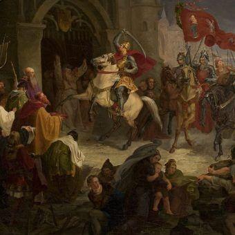 Wjazd Chrobrego w 1018 roku do Kijowa. Obraz Wincentego Smokowskiego.
