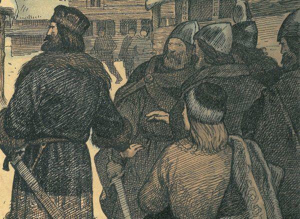 Wyprawa Swena Estrydsena do Anglii zakończyła się zdobyciem pokaźnego okupu. Na ilustracji XIX-wieczna podobizna władcy.