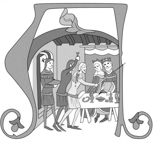 Atak Felicjana Zacha na miniaturze z tak zwanej Kroniki ilustrowanej.
