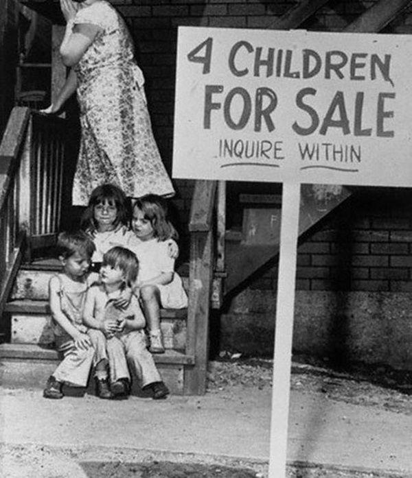 Prawdziwa desperacja z okresu Wielkiego Kryzysu. Lepiej oddać dzieci niż je zagłodzić?