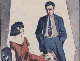 """To się nazywa """"wymowne spojrzenie"""". Ciekawe jaką minę będziecie mieć drodzy Czytelnicy po przeczytaniu poniższych """"perełek"""". Ilustracja z pisma """"Wolna myśl - wolne żarty"""" (1933)."""