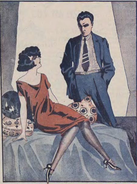 """Estetyka rodem z 50 twarzy Greya miała swoich amatorów już przed wojną. Ilustracja z pisma """"Wolna myśl - wolne żarty"""", 1933 rok."""