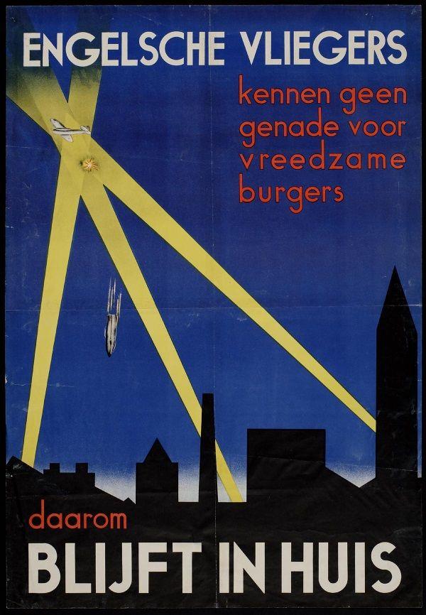 Plakat propagandowy z okresu drugiej wojny światowej w języku holenderskim.