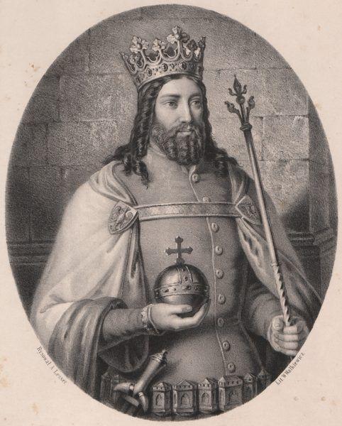 Kazimierz Wielki w wyobrażeniu A. Lessera.