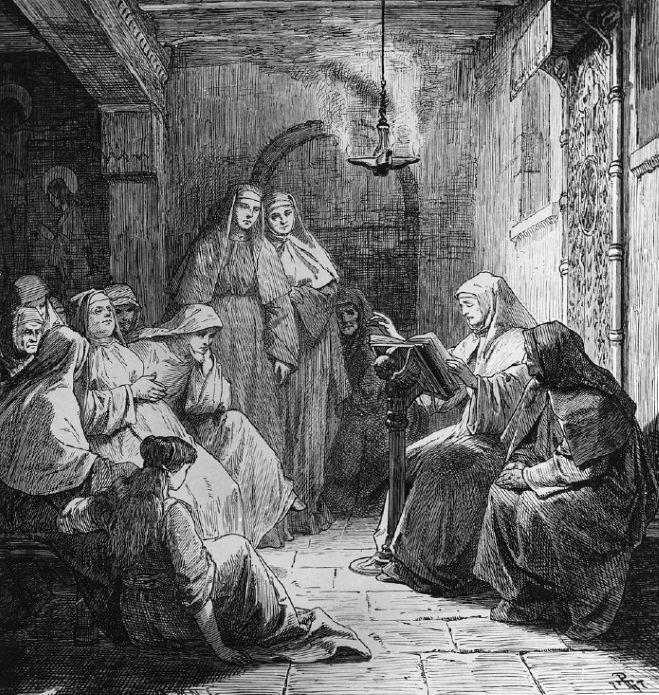 """Nieprzypadkowo niemal wszystkie potomkinie cesarzy trafiały za klasztorne mury. Ilustracja z książki Kamila Janickiego """"Żelazne damy. Kobiety, które zbudowały Polskę""""."""