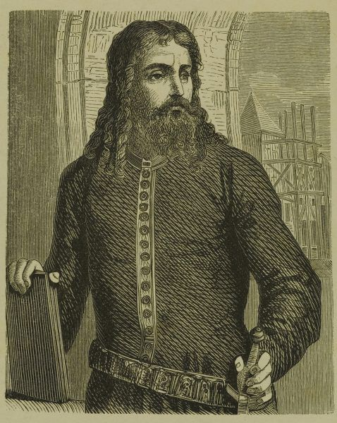 Król Kazimierz w młodych latach. Grafika Franciszka Ejsmonda z drugiej połowy XIX wieku.