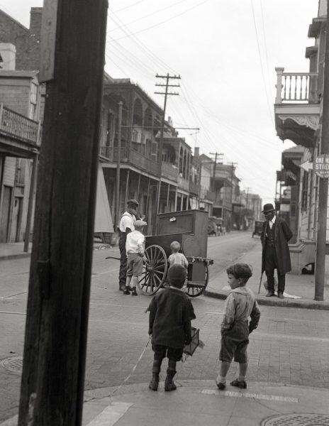 Ulica Nowego Orleanu około 1920 roku.