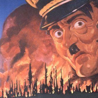 Hitler siał pożogę nie tylko za granicami Niemiec. Fragment amerykańskiego plakatu propagandowego z czasu II wojny światowej.