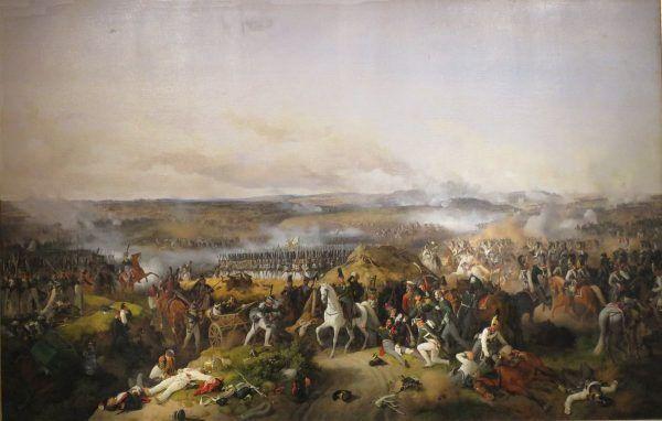 Ranny Bagration pod Borodino na obrazie Petera von Hessa.