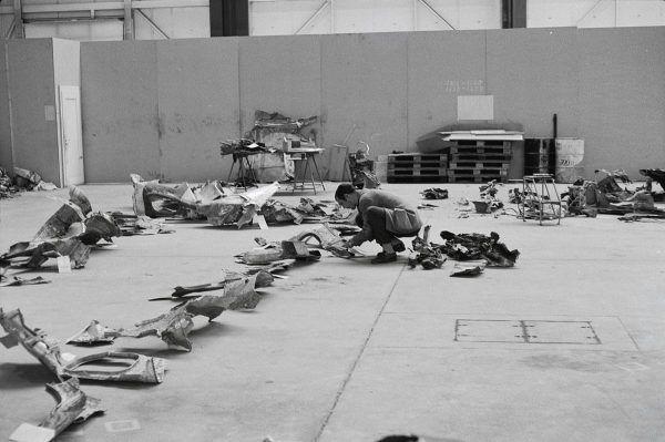 Szczątki samolotu linii Swissair, na którym Carlos podłożył bombę, doprowadzając do śmierci 47 osób.