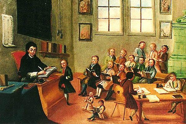 XVIII-wieczna klasa szkolna niedaleko polskich granic – w Zlatej Korunie koło Czeskiego Krumlova.