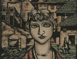Dziewczyna z miasteczka. Obraz Władysława Żurawskiego z 1932 roku