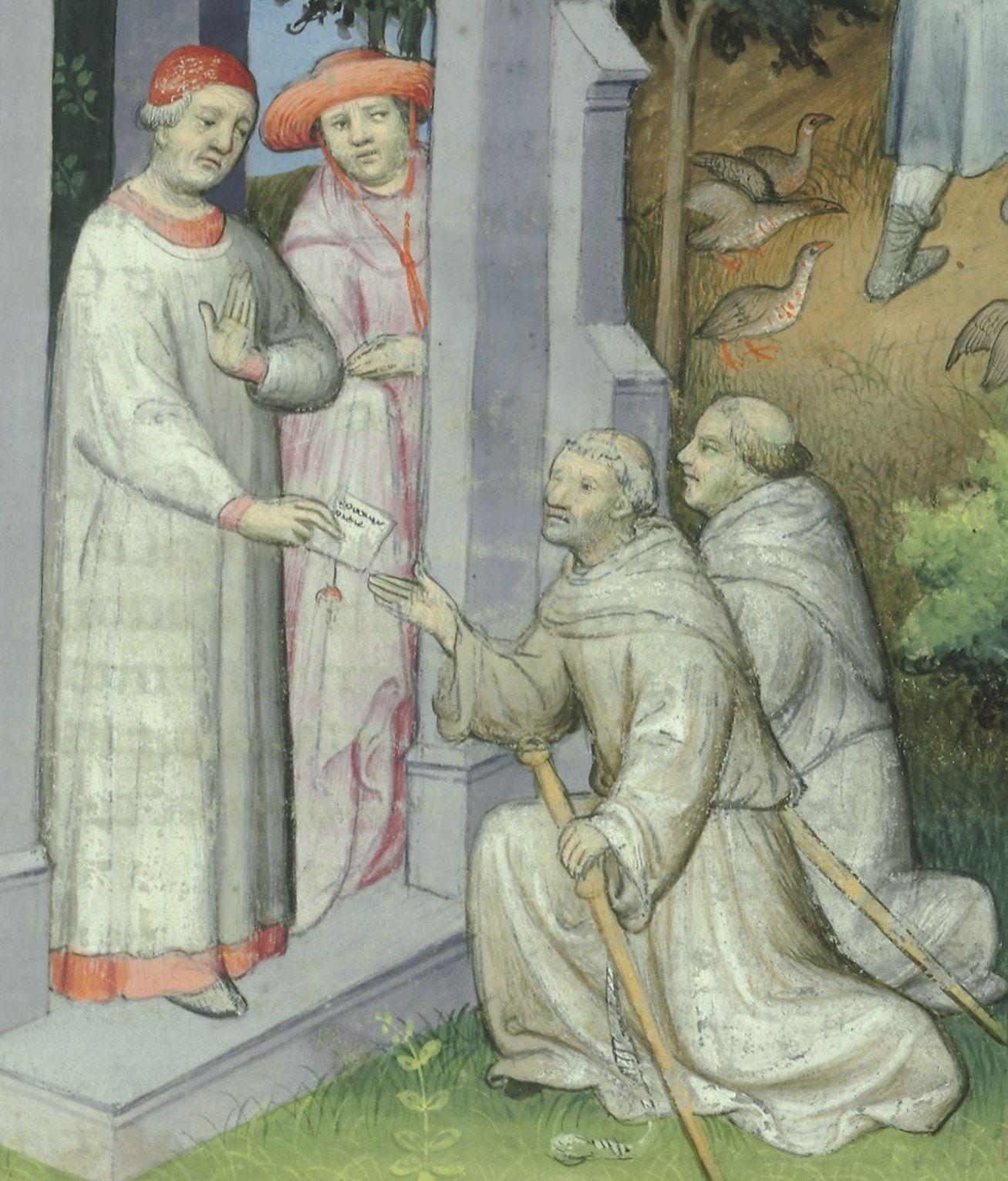 Jan XXII na miniaturze z XV wieku.