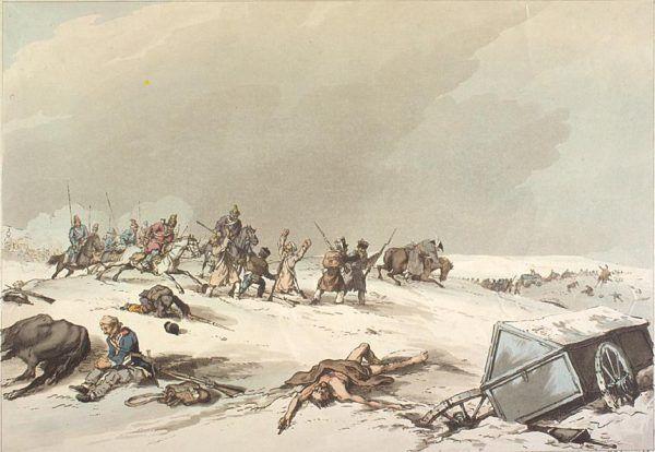 Poza mrozem i głodem prawdziwą zmorą dla żołnierzy Wielkiej Armii byli nękający ich Kozacy.