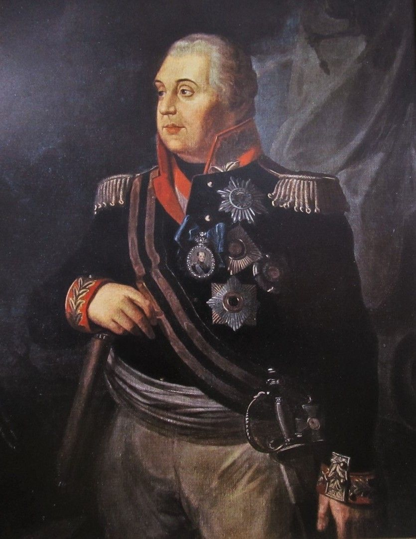 Głównodowodzący wojsk rosyjskich generał Michaił Kutuzow.