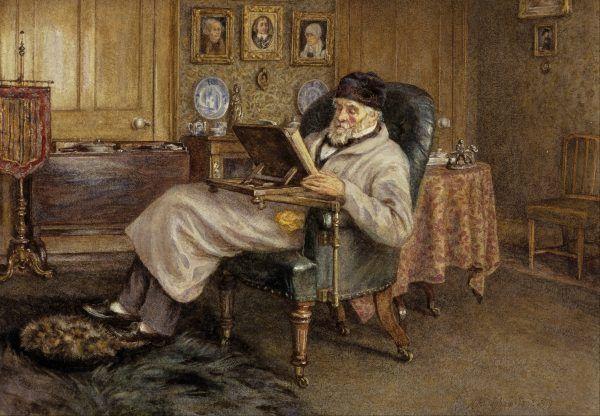 Z historii warto czerpać wiedzę i uczyć się na błędach. Na ilustracji obraz pędzla Mrs Helen Alligham przedstawiający Thomasa Carlyle'a, szkockiego historyka i filozofa historii (1879).