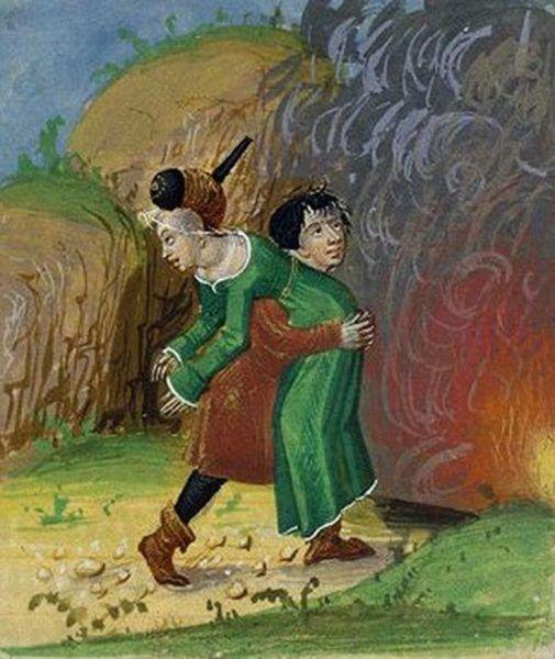 Porwanie kobiety na francuskiej miniaturze z końca XV wieku