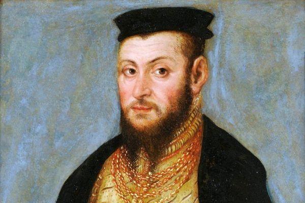 Zygmunt II August na obrazie Łukasza Cranacha Młodszego z 1553 roku.