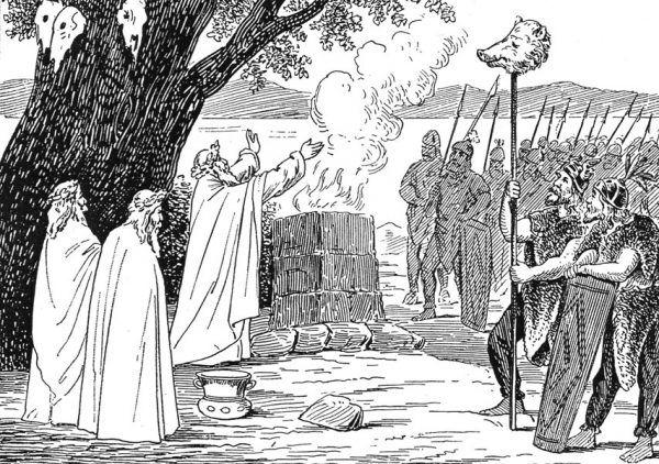 Dziewiętnastowieczne wyobrażenie religijnego obrzędu słowiańskiego…