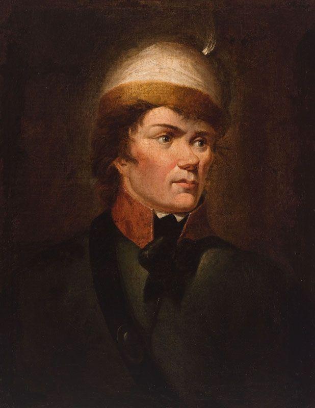 """Silny i zafascynowany Karolem XII Kościuszko zyskał przydomek """"Szwed"""". Portret z XVIII wieku."""