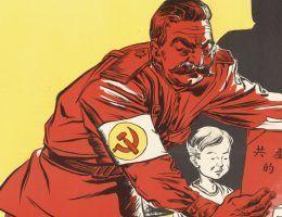 Chińska karykatura, parodiująca sowiecki system edukacji.
